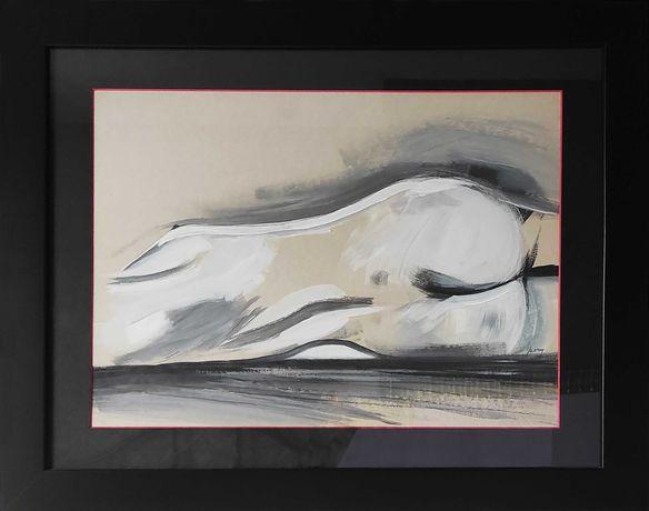 """Obraz """"Akt kobiety"""" ręcznie malowany, w oprawie 66x52"""