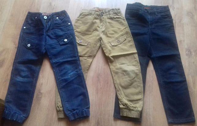 Spodnie/rurki/jeansy 3 szt Cuff Leg Denim Co i inne rozm 122/128