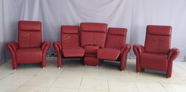 Кожаный диван , домашний кинозал.Кинодиван, Реклайнер, Релакс