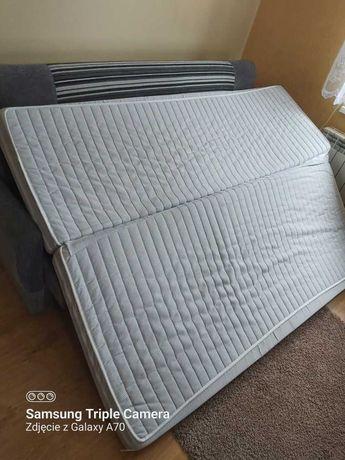 300 zł, Łóżko +stelaż+materac+poduszki dwie+ ochraniacz na łóżko