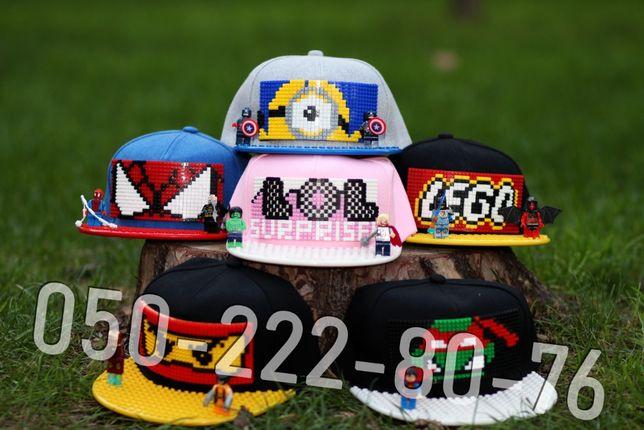 Lego кепка БОЛЕЕ 200 ВИДОВ, бейсболка конструктор, дитяча,детская лего