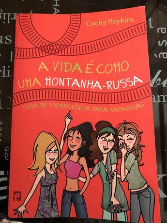 """Livro juvenil """"A Vida É Como Uma Montanha Russa"""""""