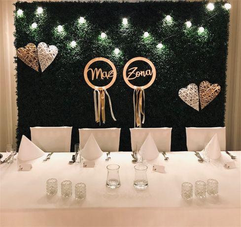 Ścianki weselne   napis love   ciężki dym   bańki mydlane   miłość