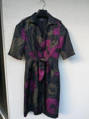 Hobbs sukienka jedwabna kolorowa 38