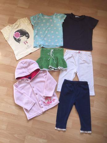 Набор за 100 грн, футболки, кофточка, лосины,  на 7 м-2 г. на р. 80-92