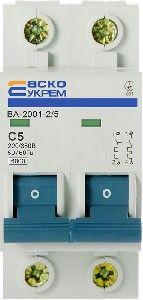 Выключатель автоматический УКРЕМ ВА-2001 2р 5А