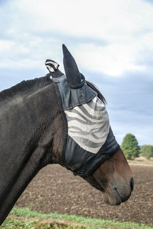 Maska na owady zebra, full