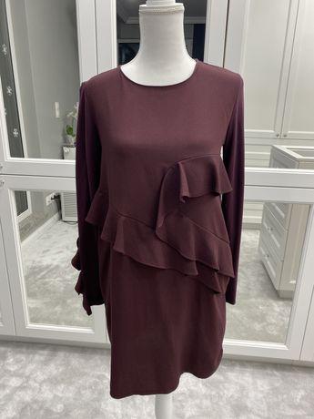 Sukienka fioletowa bakłażanowa Zara
