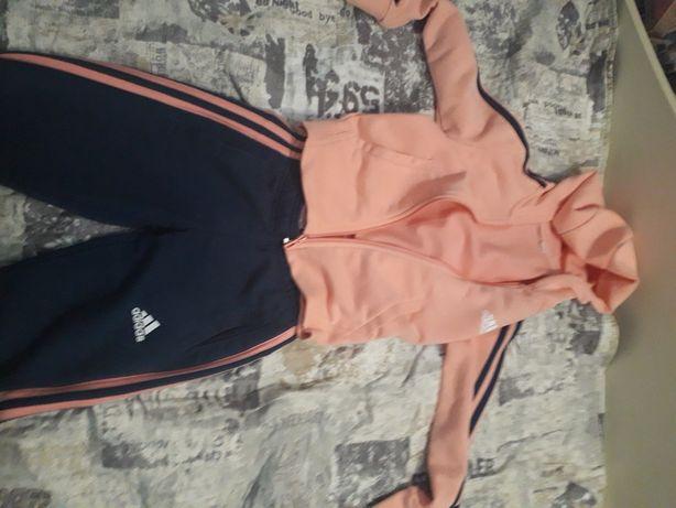 Спортивный костюм розовый для девочек ADIDAS 7-8 лет
