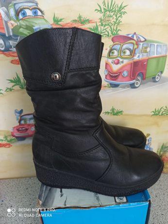 Женские зимние ботинки сапоги натуральные кожаные 38-39