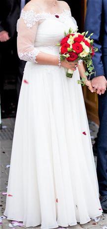 Suknia ślubna - rozm. 40/42 ecru - biżuteria gratis!