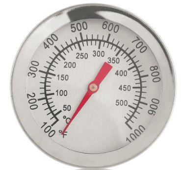 Термометр для коптильни, мангала и тандыра от +50 до +500 врезной