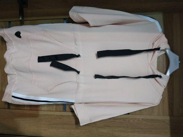 Sportowa bluzka damska z 3/4 rękawami (M-L)