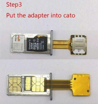 Адаптер на 2 sim и micro SD в одном слоте.