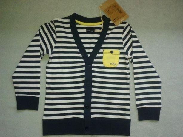 ENDO NOWE kardigan marynarski, bluzka r.110 na 4-5 L,nowy sweter