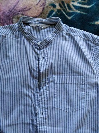 Котоновая рубашка H&M 10-11Y 146 см в идеальном состоянии