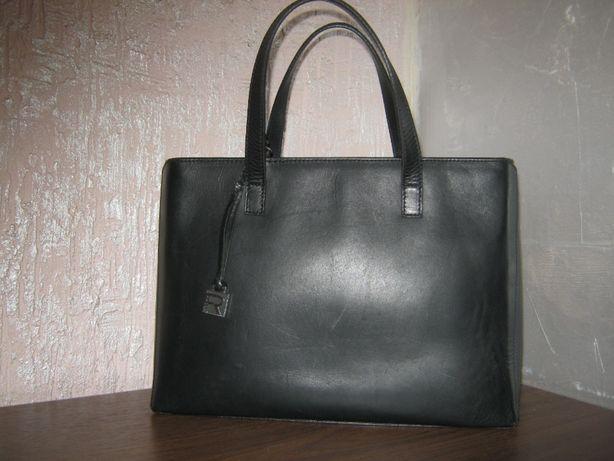 Ralph Lauren сумка кожаная черная женская держит форму натуральная кож