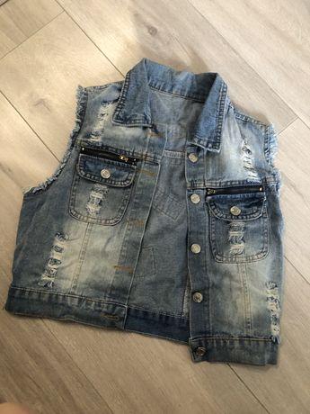 Безрукавка джинсова