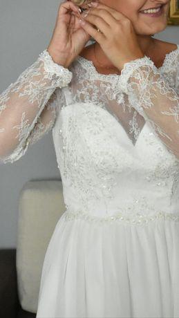 Piekna suknia ślubna Koronkowa Góra!!!