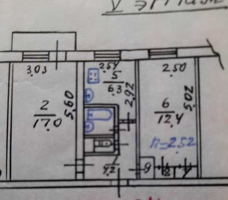 2-комнатная квартира 17 ЖМР (школа, садик, транспорт, рынок, больница)