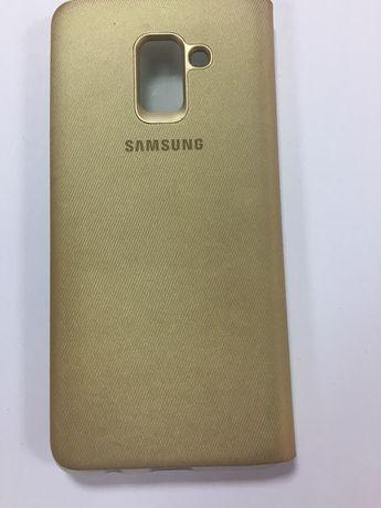 Чехол-книжка оригинал Samsung A8+ (730).