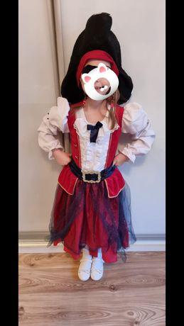 strój karnawał piratka sukienka