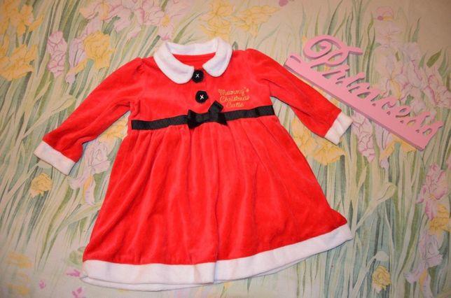 Новогоднее платье 6-9 мес 9-12 мес