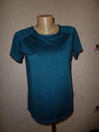 Work out Классная женская футболка, р S в идеале шикарный изумрудный ц