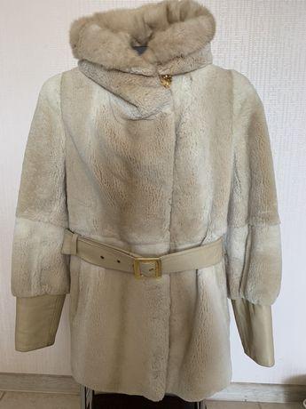 Шуба бобер р 36 р 38 полушубок бобер р S p M куртка меховая зима тепла