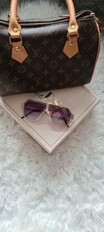Okulary nowe przeciwsłoneczne złote Dolce & Gabanna