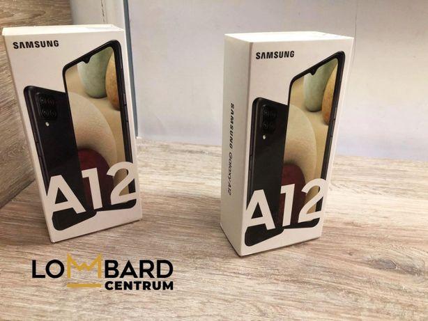 Nowy Samsung A12 BLACK 64GB Dual Sim Nieodpakowane! Cały komplet z do