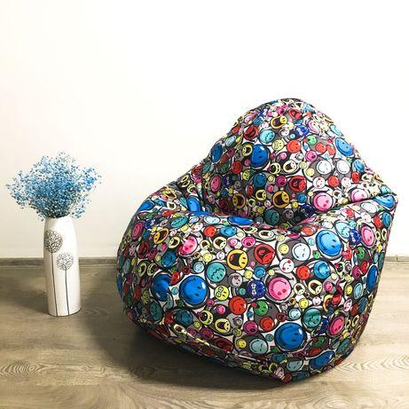 М'ягке крісло для відпочинку, пуф, кресло-груша, м'яч