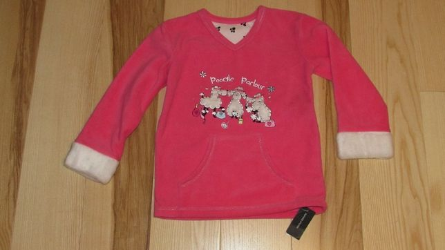 Nowa bluza r. 128 z baranakami ciepła