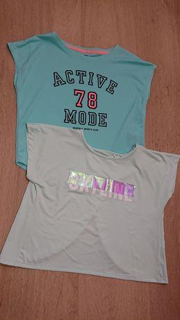 Nowe koszulki taneczne, bluzki sportowe treningowe r. 146 / 152