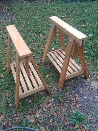 Ikea Finnvard Stojak Z Półką, nogi do biurka, stojak szt 2