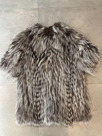 Меховой жилет из чернобурки, кожаная куртка из чернобурки
