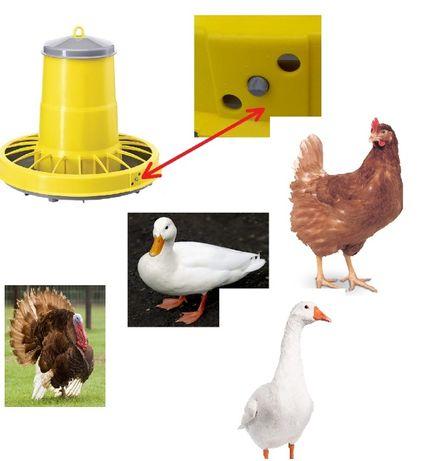Karmnik dla kur kaczek indyków gęsi kurczaków - KARMIDŁO 22l
