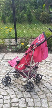 Wózek spacerowy sportowy kochi rożowy przeciwdeszczowy