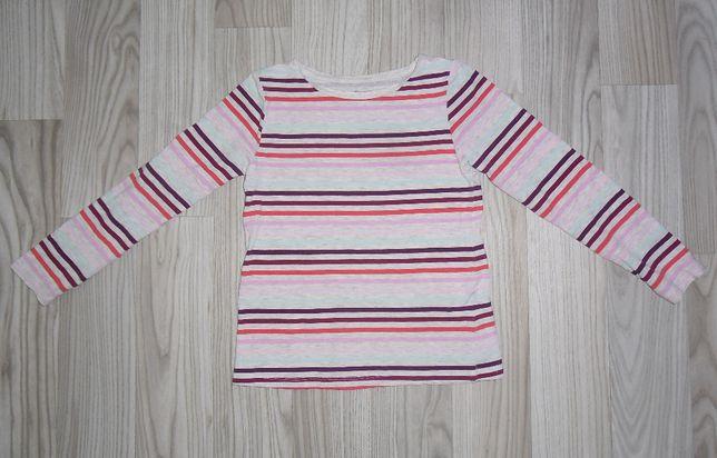 Bluzka bluzeczka z dlugim rękawem koszulka 110 / 116 H&M paski
