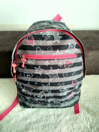 Plecak Roxy lekki jedna komora szkoła dla dziewczynki gwiazdki róż