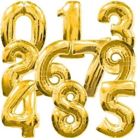 Шарики фольгированные шары цифры flexmetal на праздник подарок фольга
