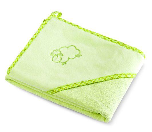 Bocioland Okrycie Kąpielowe Ręcznik Z Kapturkiem 80X80Cm Green 0035