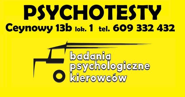 PSYCHOTESTY Badania psychologiczne kierowców CODZIENNIE