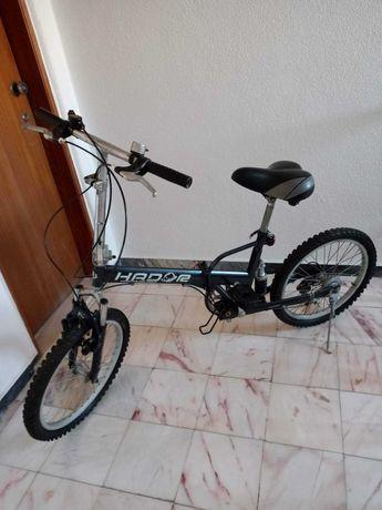 Bicicleta dobrável suspensão integral!