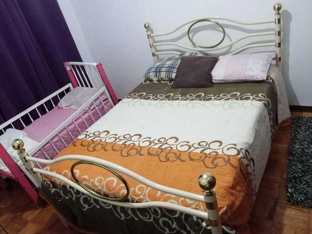 cama de casal de ferro sem colchão
