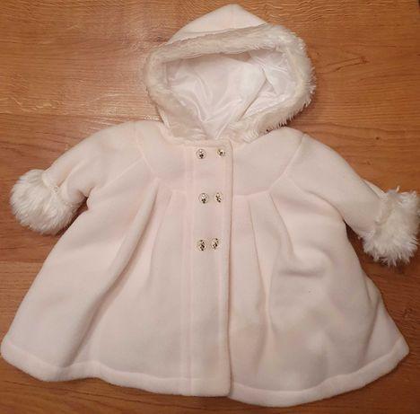 Polarowe ubranko do chrztu, dziewczynka 62-68cm