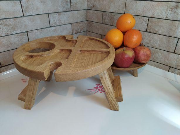 Винный, пивной столик, посуда из дерева на подарок