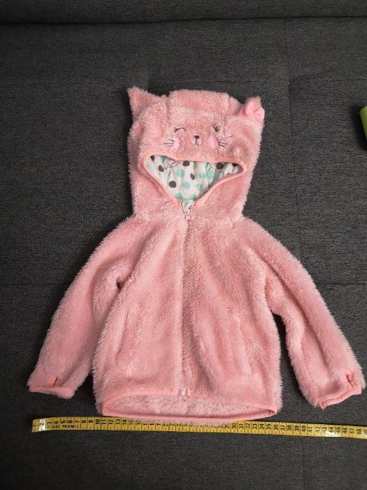 Kurtka dziewczęca zimowa wiosenna jesienna różowa futerko rozmiar 74 Tomaszów Mazowiecki - image 1