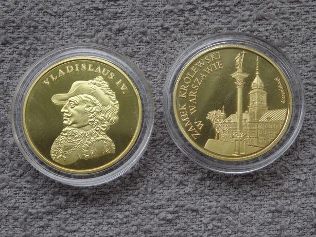 Władysław IV Waza + Zamek Królewski W-wa Złota Polska medal _NOWY