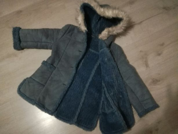 Kozuszek, kurtka, plaszczyk, zimowa, dla dziewczynki rozm 98/104